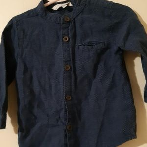 Baby Boys Long Sleeve Button Up